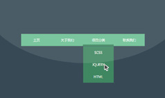 纯CSS3下划线跟随效果下拉菜单导航条