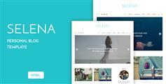个人HTML博客模板_响应扁平化博客UI设计 - Selena