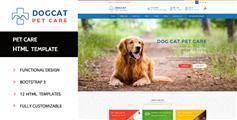 宠物医院html模板_Bootstrap宠物用品在线商店模板 - Pet Care