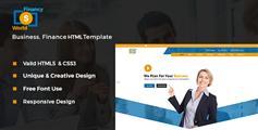 蓝色大气金融企业html模板_Bootstrap咨询公司网站UI设计 - Financy World