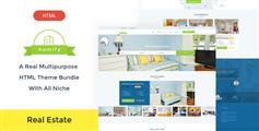 房地产官网HTML模板_Bootstrap房产中介网站html框架 - Homify