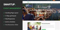 活动平台HTML模板_响应式事件策划网站html模板 - Smart Up