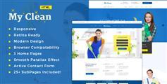 HTML5保洁家政服务公司网站模板带产品商城html模板 - MyClean