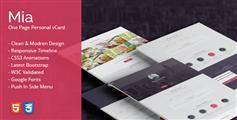 精美Bootstrap单页个人网站html模板_侧边栏导航简历介绍html - Mia