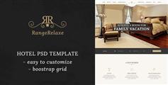 豪华酒店预订html模板Bootstrap酒店在线预订模板 - RangeRelaxe