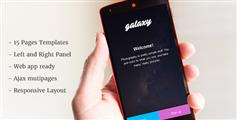 framwork7框架开发的精美手机网站html5源码 - Galaxy