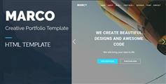 大气全屏Bootstrap模板_响应式通用中小企业html模板框架 - MARCO