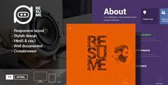 Resume单页创意个人简历HTML5模板