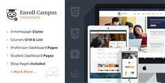 大学官网html模板_响应大学教育网站html模板 - Enroll University