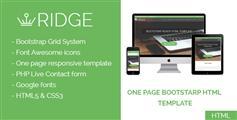 单页响应Html模板_Bootstrap滚动视差网页模板 - Ridge