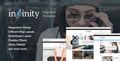 新闻杂志网站Html模板_漂亮的响应式博客html设计源码  -Infinity
