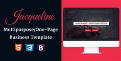 大气红色风格公司网站HTML模板_单页滚动Bootstrap企业模板 - Jacqueline