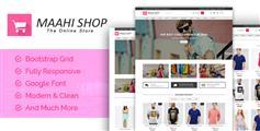 多功能粉红色电商HTML模板_响应式通用商城HTML模板 - Maahi Shop