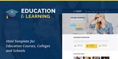 教育培训机构html模板_在线课程教学网站html5模板