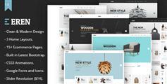 HTML5家具装饰商城模板_Bootstrap3电器商城电商HTML模板 - Eren
