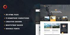 时尚HTML5个人博客网页模板_9种色调博客HTML页面模板 - Dot