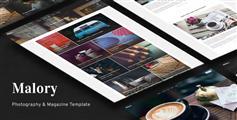 摄影图片网站HTML模板_Bootstrap瀑布流图库杂志模板 - Malory