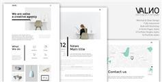 简约创意组合HTML5模板_通用博客网站HTML模板 - Valno