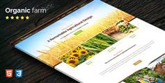 HTML5单页农产品业务模板_单页滚动视差动画企业网站模板 - Organic Farm