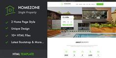 HTML5房产中介网站模板_Bootstrap响应式房地产html模板 - Homezone