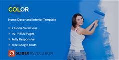 响应式装饰公司HTML5模板_Bootstrap蓝色室内装修网站HTML模板 - Color