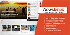 新闻门户网站HTML5模板_整套响应式新闻杂志网站HTML - NewsTimes