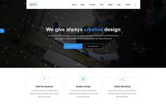 一套漂亮大气的响应式HTML5企业网站框架兼容手机端HTML公司模板 - RAEES
