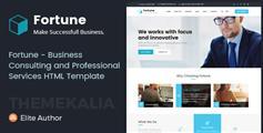 Fortune - 商业咨询和专业服务企业HTML模板_响应式保险公司HTML5网站模板