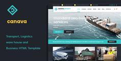 响应式HTML5&CSS3物流网站模板_通用多色调企业HTML模板框架 - Canava