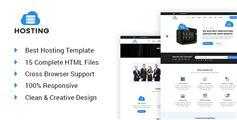 虚拟主机服务商网站HTML5模板Bootstrap3通用企业网站UI设计 - Hosting