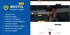 大气深蓝色安保公司网站HTML模板_响应式安保公司官网UI设计 - Bristol