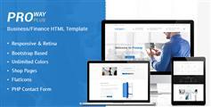 响应式Bootstrap多用前途企业网站模板_html5博客|商店|公司网站模板 - ProWay+