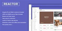 Bootstrap框架CRM管理系统模板_响应后台模板angular和html版本 - Reactor