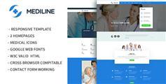 兼容手机端医疗与健康HTML模板_Bootstrap3医院网站HTML5模板 - Mediline