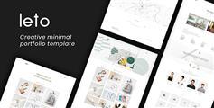 Html5作品展示网站模板响应式设计师灵感网页模板 - Leto