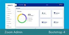 基于Bootstrap4创建的精美后台管理Html模板 - Zoom