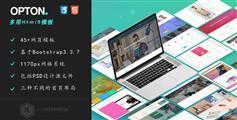 Opton - 扁平化企业网站Html模板企业网站界面UI设计