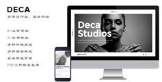创意工作室网站Html5模板设计作品Bootstrap网站|Deca