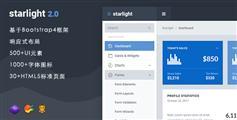 响应Bootstrap4和Sass后台管理Html模板 - Starlight