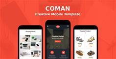 红色响应式Html5企业手机微信网站模板|Coman