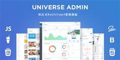 使用sass创建响应式Bootstrap4后台模板Html源码|Universe