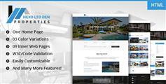 响应式HTML5和CSS3标准房地产模板基于Bootstrap框架UI设计 - Hexo