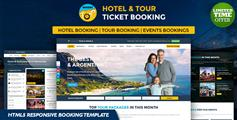 Bootstrap假日酒店网上预订模板和旅游网站订票HTML5响应模板