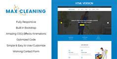 css3动画企业网站模板HTML源码_Bootstrap简介大气公司网站UI设计 - Max Clean