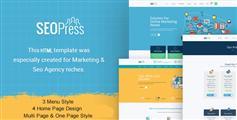 设计精美SEO搜索引擎优化公司网站和营销企业HTML模板 - SeoPress