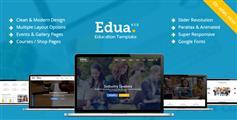 Edua - 响应式教育机构HTML5模板_精美的在线学习网站UI设计