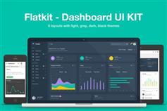 Flatkit扁平仪表盘后台html5网站模板