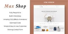扁平设计HTML5电商模板响应式Bootstrap商城模板UI设计兼容手机端 - Max Shop