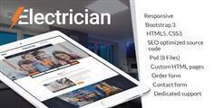 电力服务企业HTML网站模板PSD_通用科技公司官网HTML5模板 - Electrician
