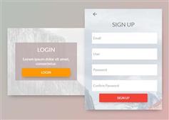用CSS3实现登录和注册两个表单切换动画效果
